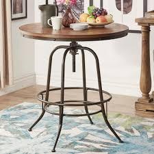 36 Round Dining Table Homesullivan Olson Brown Adjustable Pub Bar Table 405429 36rd