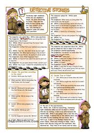 detective stories worksheet free esl printable worksheets made
