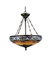 elstead lighting quoizel tiffany belle fleur 4 light pendant