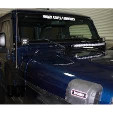 jeep jk hood led light bar under cover fabworks llc ucf jeep tj hood mounting brackets for