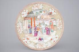 mandarin porcelain a export porcelain mandarin pattern bowl and a dish