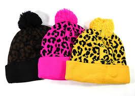 wholesale pom pom beanie hats winter cap bulk leopard cheetah