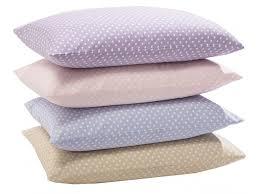 de casa spot brushed cotton flannelette pillowcases
