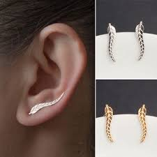 stud earrings with chain 1 pair women fashion rhinestone ear stud earrings