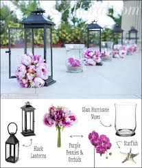 Tall Metal Vases For Wedding Centerpieces by Wedding Aisle Ceremony Decor Purple Peonies And Orchids In
