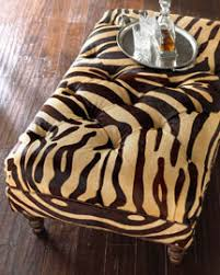 hairhide stenciled with zebra stripes by massoud so you can