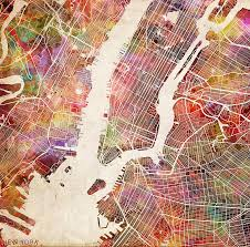 New York Maps by New York Map Painting Painting By Map Map Maps