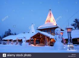 santa claus village rovaniemi finland stock photo royalty free