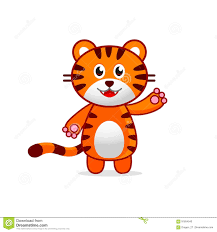 funny tiger baby vector illustration for kids stock vector