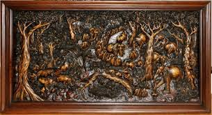 wood wall carvings solid teak wood wall hanging with 3d relief carvings from thailand