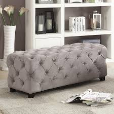 Tuffted Ottoman Priscilla Velvet Button Tufted Ottoman Free Shipping Today