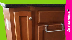 How To Organize Kitchen Cabinet by How To Organize A Narrow Kitchen Cabinet Youtube