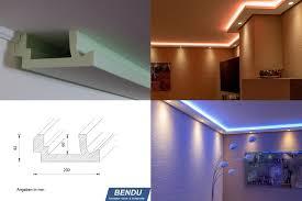 Haus Mit Indirekter Beleuchtung Bilder Bendu U2013 Moderne Stuckleisten Bzw Lichtprofile Für Indirekte