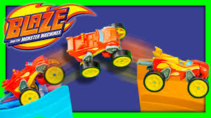 monster truck racing video blaze and the monster machine nickelodeon blaze flip n race