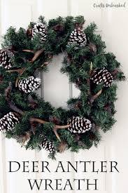 thanksgiving wreaths diy diy winter wreath antler wreath idea crafts unleashed