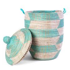Laundry Hamper For Kids by Handmade Lidded Basket Hamper Woven Laundry Basket Uncommongoods