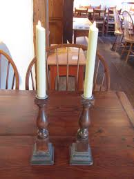 Antique Banister Candlesticks U0026 Pillar Holders