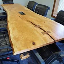 Live Edge Conference Table Custom Live Edge Furniture For Sale In Chagrin Falls Ohio
