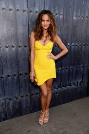 women u0027s yellow bodycon dress beige leather heeled sandals gold