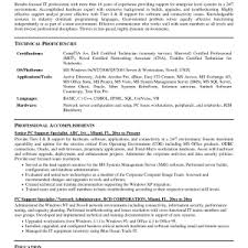 Technical Support Resume Template Cover Letter Technical Support Specialist Resume Technical Support