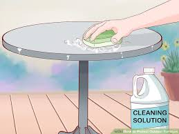 Cleaning Outdoor Furniture by How To Protect Outdoor Furniture With Pictures Wikihow