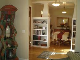 Interior Home Columns Room Dividers Bookshelves With Nice White Racktangle Design For