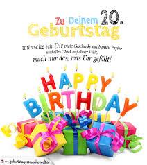geburtstagskarten zum ausdrucken 20 geburtstag - Geburtstagssprüche 20