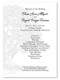 Wedding Programs Sample Natural Wedding Programs Vieux Oak Recycled