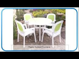 Outdoor Furniture Plastic Chairs by Plastic Outdoor Furniture Resin Wicker Patio Furniture Youtube