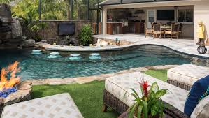 a lazy river runs through it custom pool on pine island