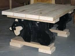 black bear coffee table bear coffee table black bear family coffee table worldsapart me