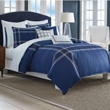 bedroom appealing navy blue and white comforter with beautiful