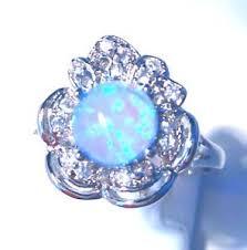 size 9 ring in uk uk fabulous flower blue opal ring uk size r us size 9 ebay