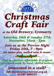 christmas craft fair cromarty arts trust