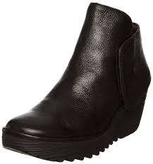 womens black leather boots sale fly sale ankle boots fly fly yogi black