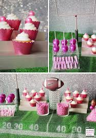 football decorations girly football table soiree event design