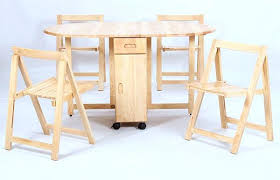 Drop Leaf Folding Table Drop Leaf Table With Chair Storage Smc