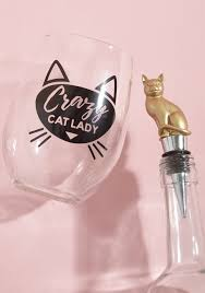 wine glass with initials purr me another wine glass and stopper set modcloth