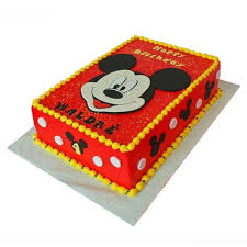 mickey mouse cake mickey mouse cake 4kg butterscotch gift mickey themed