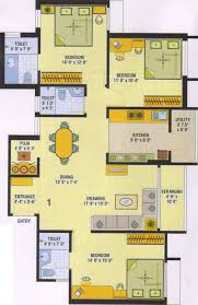 1300 sq ft 3 bhk floor plan image yesh golden heights available