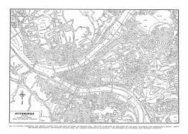 Pittsburgh Neighborhood Map Pittsburgh Map Street Map Vintage Print Poster