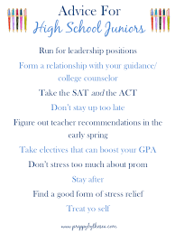 high school stuff preppy by the sea advice for high school juniors preppy by the