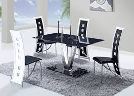 White Furniture Dining Sets D551dt Dining Set 5pc W 803dc Black U0026 White Chairs By Global