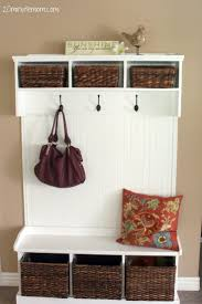Entryway Bench And Storage Shelf With Hooks Advantage Entry Hall Tree Storage Bench Tags Bench Hall Tree