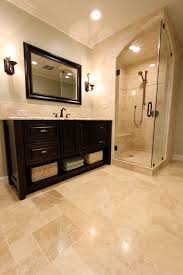 travertine bathroom ideas ivory travertine tile bathroom traditional with arch glass door
