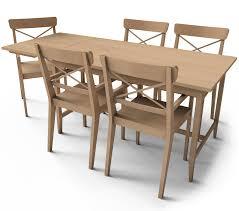 cad and bim object leksvik dining table ikea