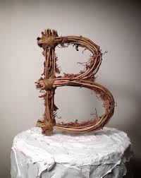 cake topper letters rustic monogram wedding cake toppers monogram wedding cake