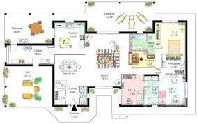 plan de maison 4 chambres plain pied plans maisons plain pied plan maison chambres garage plan de la