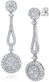white gold dangle earrings diamond jewelers engagement wedding bands and jewelry