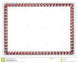 Image Of Flag Of Egypt Frame And Border Of Ribbon With The Egypt Flag 3d Illustration